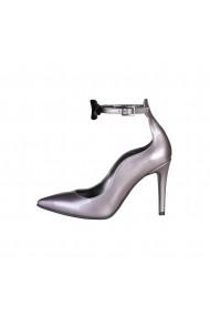 Pantofi cu toc Made in Italia ANGELICA LILLA-NERO argintiu