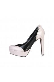 Pantofi cu toc Made in Italia GEMMA NERO-CIPRIA crem