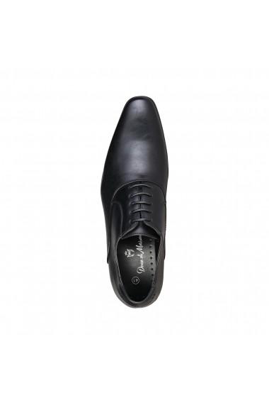 Pantofi Duca di Morrone JOSH_BLACK Negru