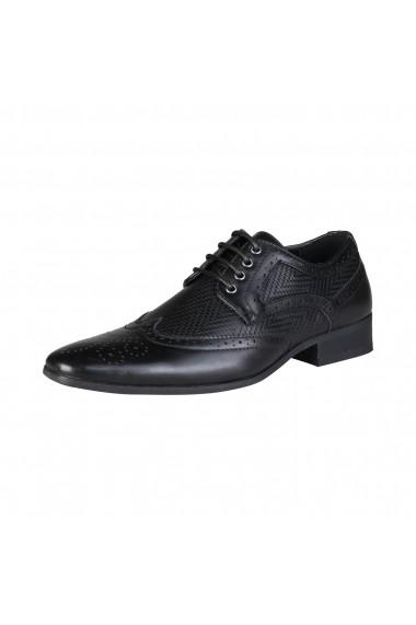 Pantofi Duca di Morrone SCOTT_BLACK Negru