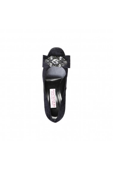 Pantofi cu toc Fontana 2.0 CHRIS NERO-INOX negru