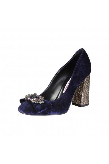 Pantofi cu toc Fontana 2.0 CHRIS BLU-PLATINO albastru - els