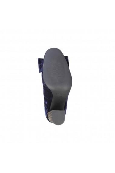 Pantofi cu toc Fontana 2.0 CHRIS BLU-PLATINO albastru