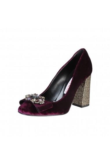 Pantofi cu toc Fontana 2.0 CHRIS PRUGNA-PLATINO bordo