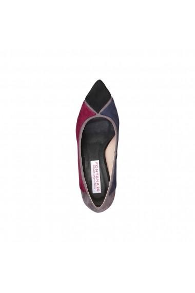 Pantofi cu toc Fontana 2.0 VALERIA_BLU-BORDEAUX Multicolor