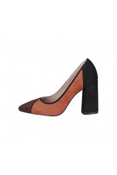 Pantofi cu toc Fontana 2.0 VALERIA_MARRONE-VERDE Multicolor