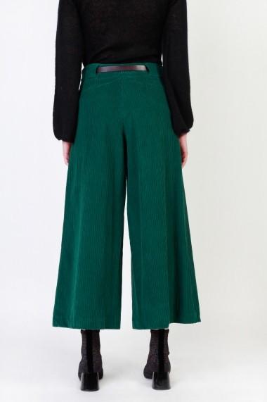 Pantaloni largi Dixie P212G088 1715 VERDE verde - els