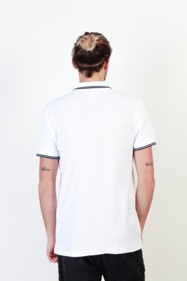 Tricou Putney Bridge PBMPT024_WHITE-NAVY bleumarin