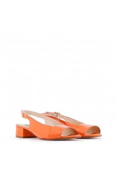 Sandale cu toc Arnaldo Toscani 3280100_VARNISH_MANDARINO