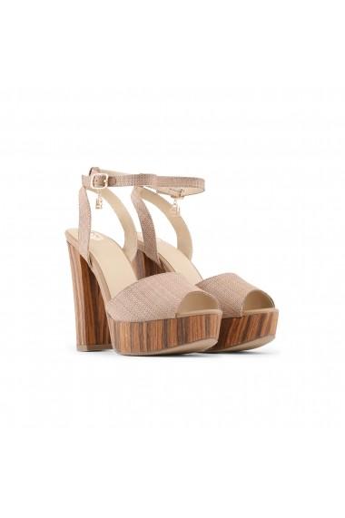 Sandale cu toc Laura Biagiotti 662_RAFIA_BROWN maro