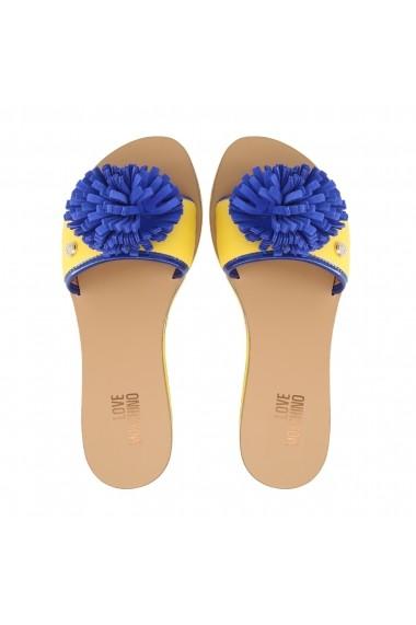 Papuci Love Moschino JA28012G15ID_140A galben
