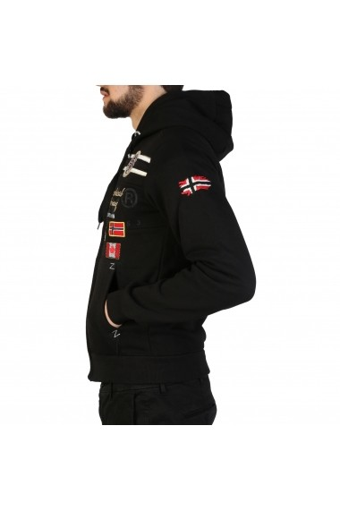 Pulover Geographical Norway Garadock_man_black Negru