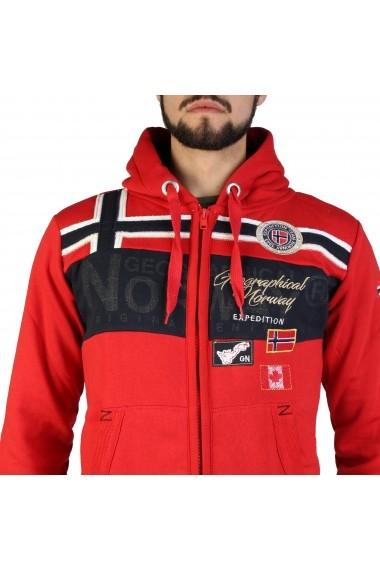 Pulover Geographical Norway Garadock_man_red Rosu