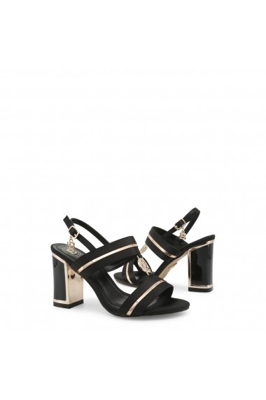 Sandale cu toc Laura Biagiotti 5518_SATIN_BLACK Negru