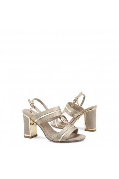 Sandale cu toc Laura Biagiotti 5518_SATIN_BEIGE