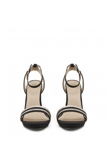 Sandale cu toc Laura Biagiotti 5466_NABUK_BLACK Negru