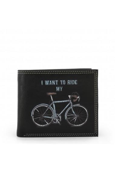 Portofel Carrera Jeans BICYCLE_CB537B_BLACK Negru