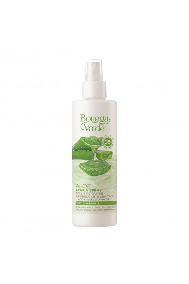 Spray revigorant pentru picioare cu 30% suc de aloe vera bio