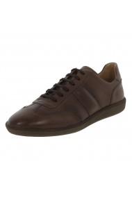 Pantofi sport, Urban Sneakers Piele Naturala Maro NV 109