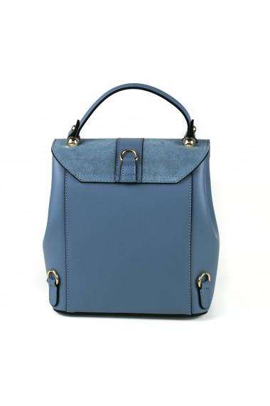 Rucsac dama Delis GT495 piele naturala model albastru inchis