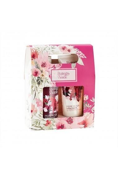 Set cadou femei, cu arome de piper roz