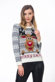 Pulover dama model Christmas, BE YOU