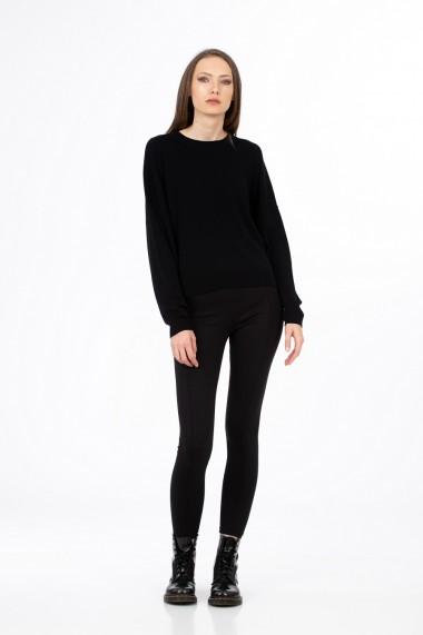 Pulover negru, model over, BE YOU