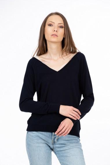 Bluza bleumarin cu dantela, BE YOU
