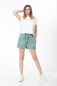Pantaloni scurti cu cordon, menta, BE YOU