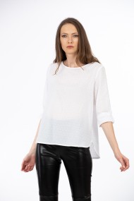 Bluza alba din bumbac, BE YOU
