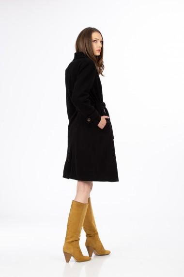 Palton negru cu cordon, BE YOU