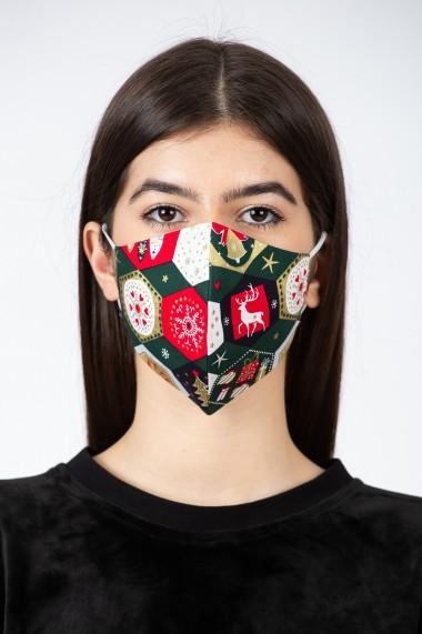 Masca de protectie model verde Xmas, BE YOU