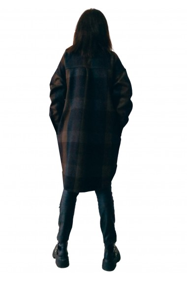 Camasa supradimensionata Crisstalus din stofa Maro