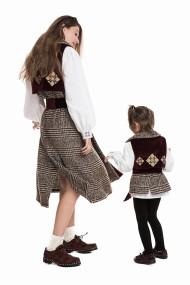 Set mama-fiica Vesta Florest Plaid Wool