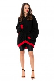 Hanorac Carolina D Boyfriend oversized hoodie WOW! Negru