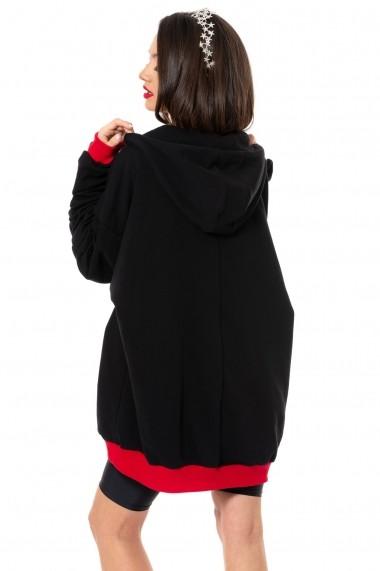 Hanorac Carolina D Boyfriend oversized hoodie WOW! Negru
