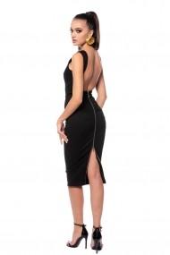 Rochie de seara Carolina D din denim Bond Girl Neagra