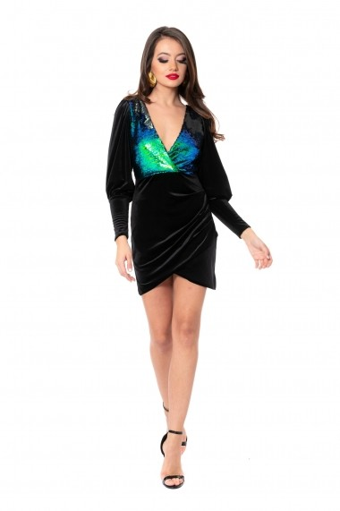 Rochie de seara Carolina D MERMAID mini dress Neagra