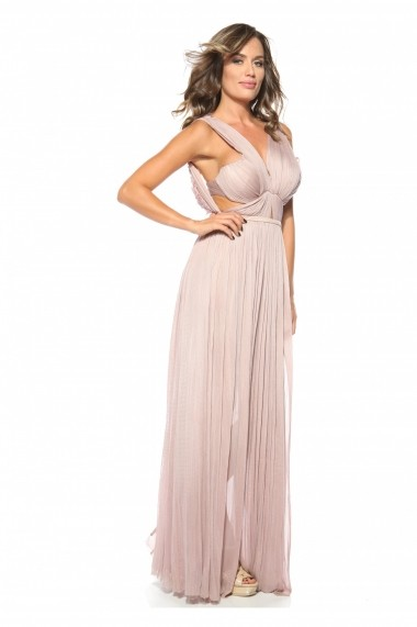Rochie Old Pink Roserry din tulle din matase naturala
