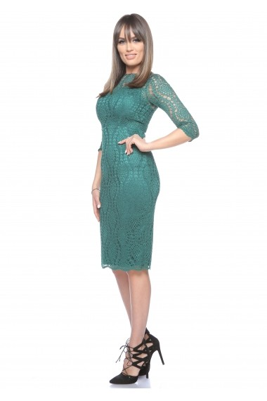 Rochie verde Roserry midi din dantela -  CRM_1RSY514