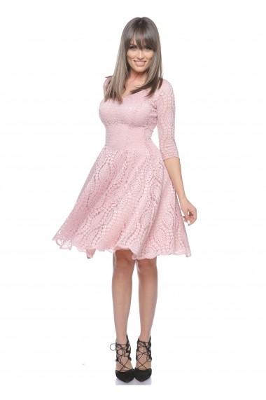 Rochie roz Roserry clos din dantela -  CRM_1RSY515