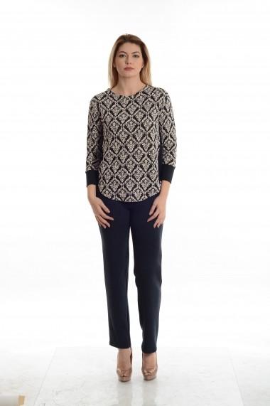 Bluza Cesy Fashion CSF 179 alb, negru