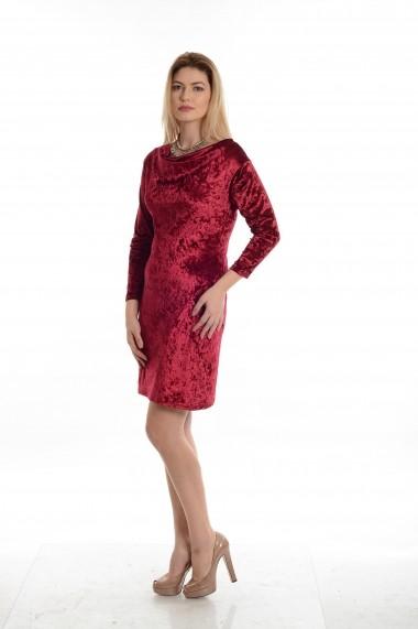 Rochie Cesy Fashion CSF 196 rosu intens