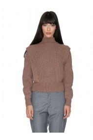 Pulover tricotat Cuanna maro