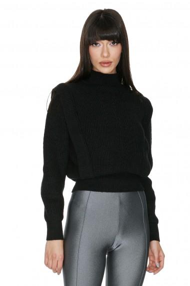 Pulover tricotat Cuanna negru