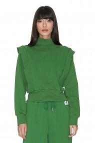 Bluza trening Cuanna din bumbac Verde