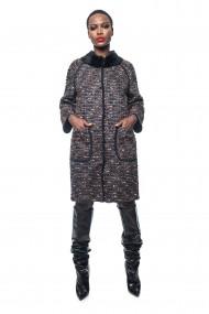 Palton din blana de nurca DOUBLE BLACK