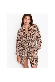 Halat Victoria`s Secret Logo Short Cozy Champagne Leopard