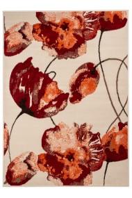 Covor Decorino Floral Albium, Alb/Maro, 190x280 cm