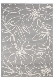 Covor Decorino Floral Efterios, Gri/Alb, 160x230 cm